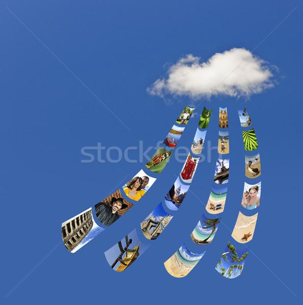 Storing photos on cloud Stock photo © elenaphoto