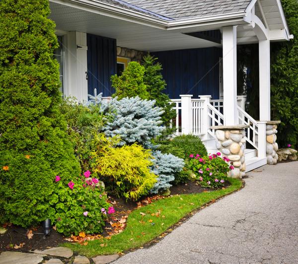 Garden and home entrance Stock photo © elenaphoto