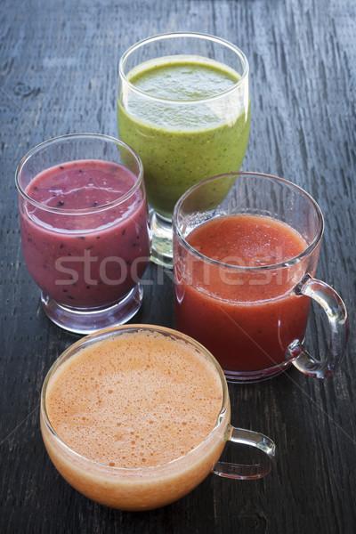 Assorted smoothies Stock photo © elenaphoto