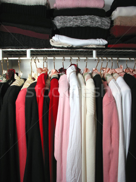 Closet with clothes Stock photo © elenaphoto