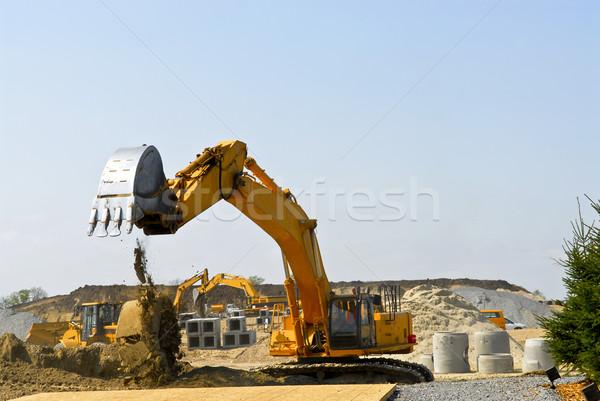 Construction site machines Stock photo © elenaphoto