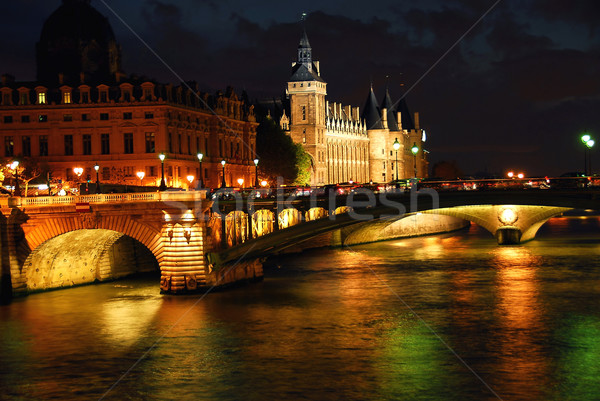 Nighttime Paris Stock photo © elenaphoto