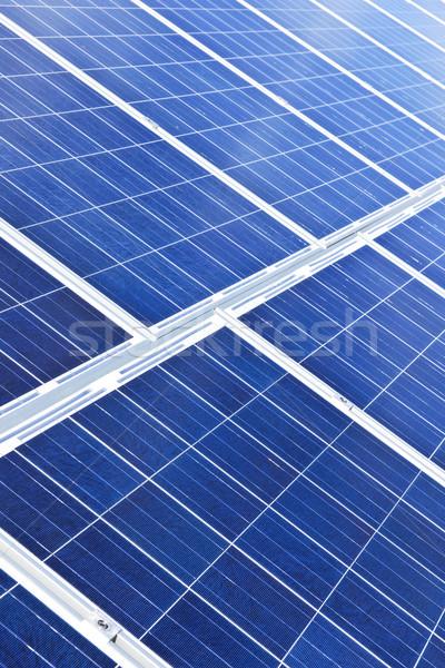Zdjęcia stock: Panele · słoneczne · alternatywa · energii · niebieski