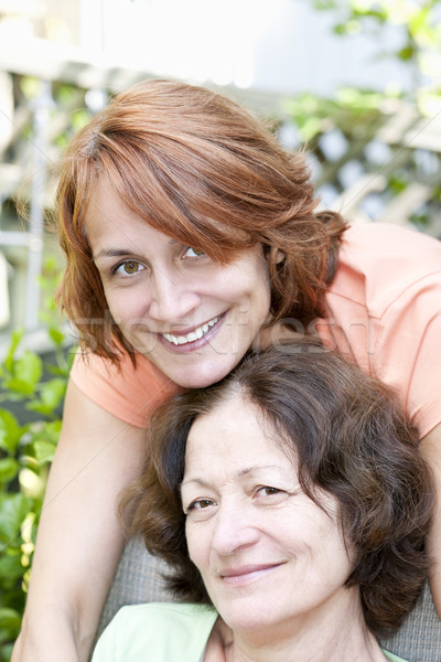 Mature mother and daughter Stock photo © elenaphoto