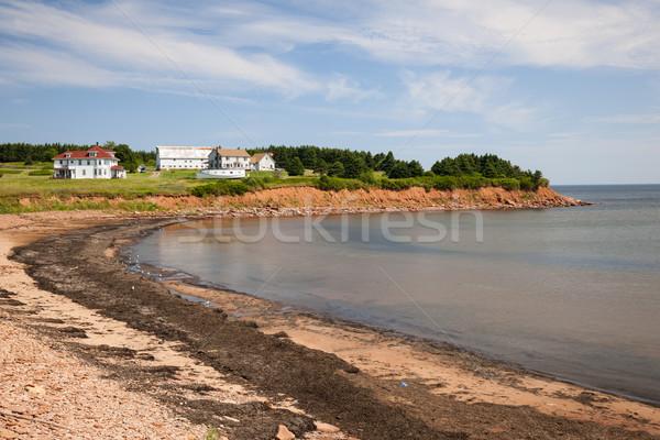 Prince edward adası sahil köy kuzey yeşil Stok fotoğraf © elenaphoto