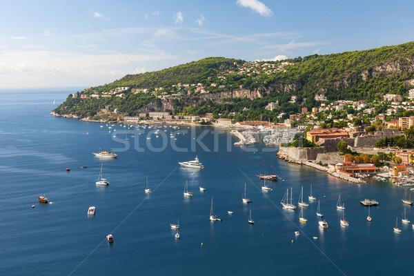 Cap de Nice and Villefranche-sur-Mer on French Riviera Stock photo © elenaphoto