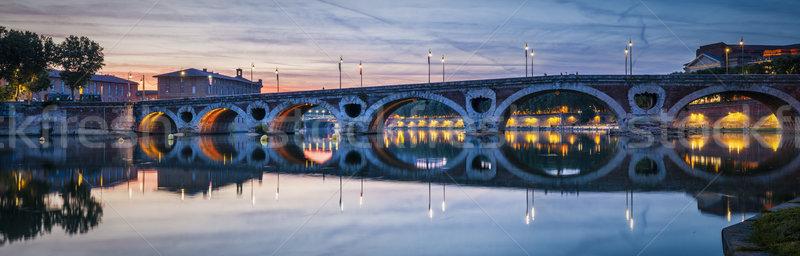 Panorama of Pont Neuf in Toulouse Stock photo © elenaphoto