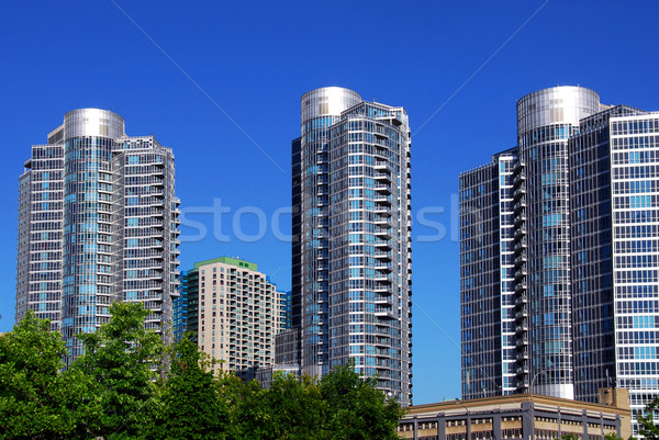 Modern condominium complex Stock photo © elenaphoto