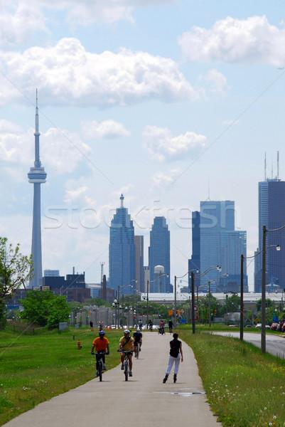 Toronto camino edificio ciudad Foto stock © elenaphoto
