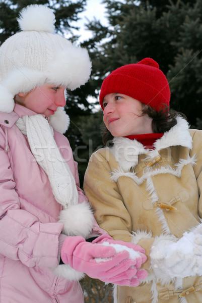 Two girls Stock photo © elenaphoto