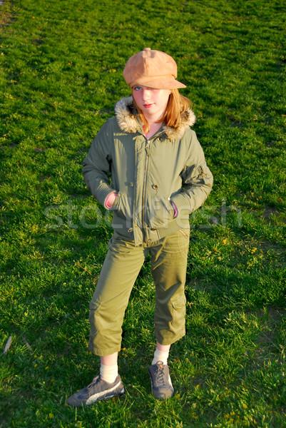 Girl standing Stock photo © elenaphoto