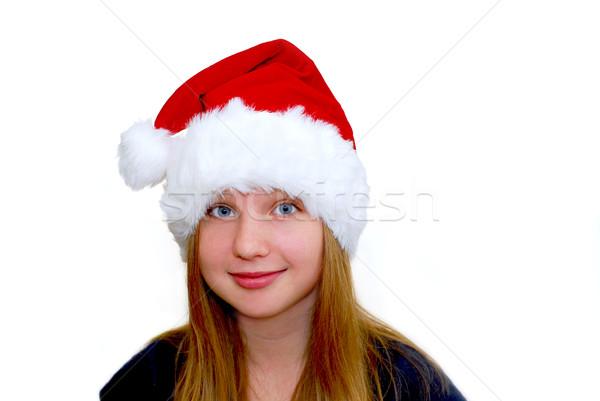 少女 肖像 若い女の子 着用 帽子 孤立した ストックフォト © elenaphoto