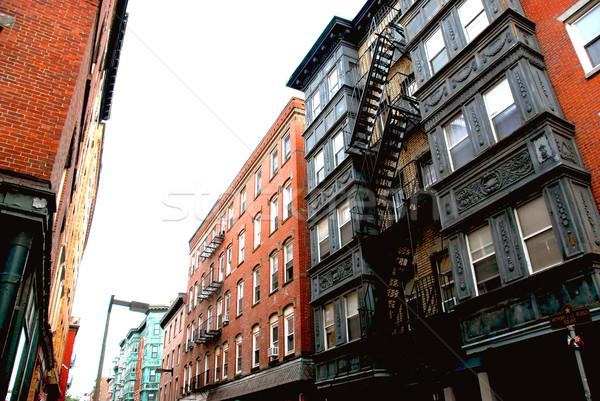 Бостон улице узкий исторический север конец Сток-фото © elenaphoto