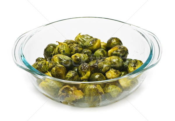 Casserole dish of brussels sprouts Stock photo © elenaphoto
