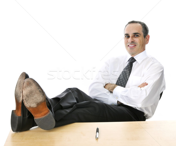 Relaxing businessman Stock photo © elenaphoto
