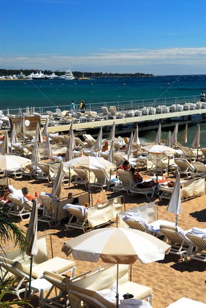 Stockfoto: Strand · promenade · water · zomer · vakantie