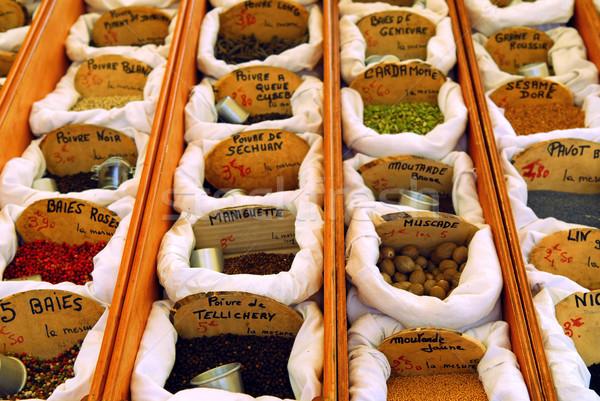 Specerijen markt verkoop frans boeren voedsel Stockfoto © elenaphoto