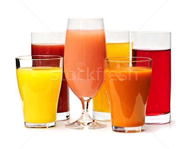 Glasses of various juices Stock photo © elenaphoto