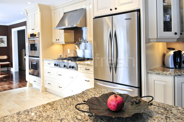 キッチンのインテリア インテリア 現代 高級 キッチン ステンレス鋼 ストックフォト © elenaphoto