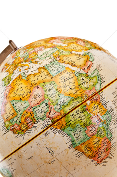 Globo África mapa mundo oceano escuro Foto stock © elenaphoto