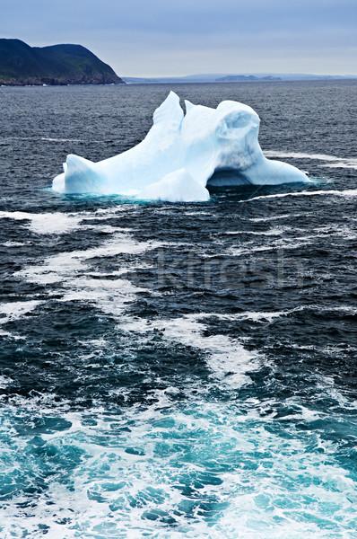 Olvad jéghegy el part Újfundland Kanada Stock fotó © elenaphoto