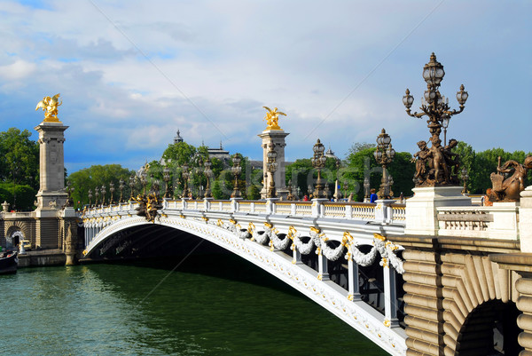Pont Alexandre III Stock photo © elenaphoto