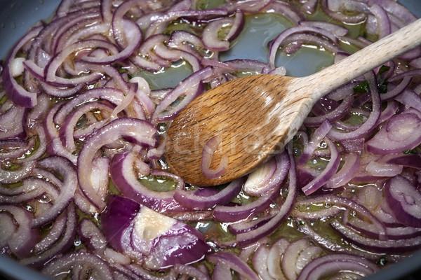 Sauteed onions Stock photo © elenaphoto