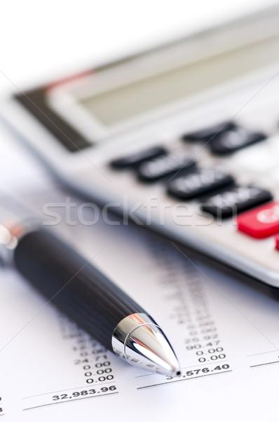 Tax calculator and pen Stock photo © elenaphoto