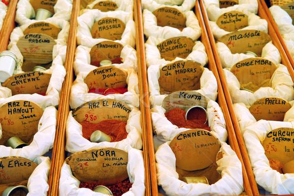 специи рынке продажи французский Фермеры продовольствие Сток-фото © elenaphoto
