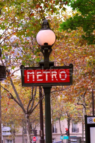 Paris metro Stock photo © elenaphoto
