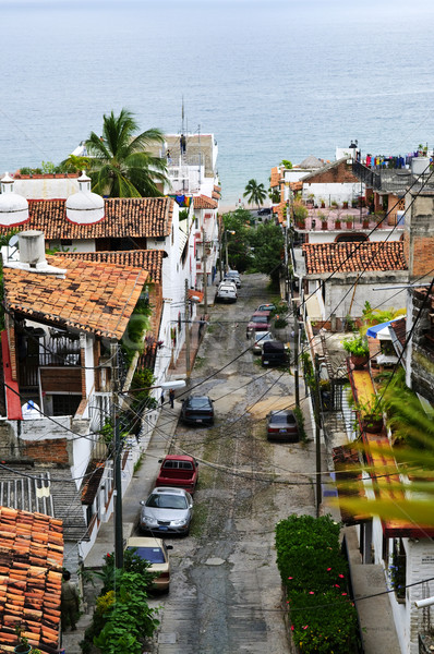 City street in Puerto Vallarta, Mexico Stock photo © elenaphoto