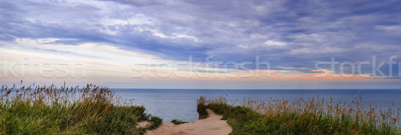 Stock photo: View of Lake Ontario from Scarborough Bluffs