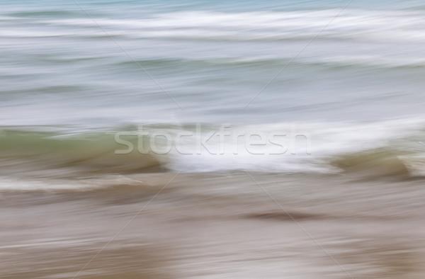 Acqua sabbia abstract Ocean onde spiaggia di sabbia Foto d'archivio © elenaphoto