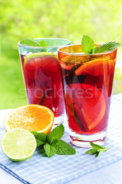 Foto stock: Frutas · gafas · dos · fuera · vidrio
