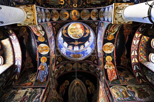 Iglesia interior ortodoxo Christian arte mármol Foto stock © elenaphoto