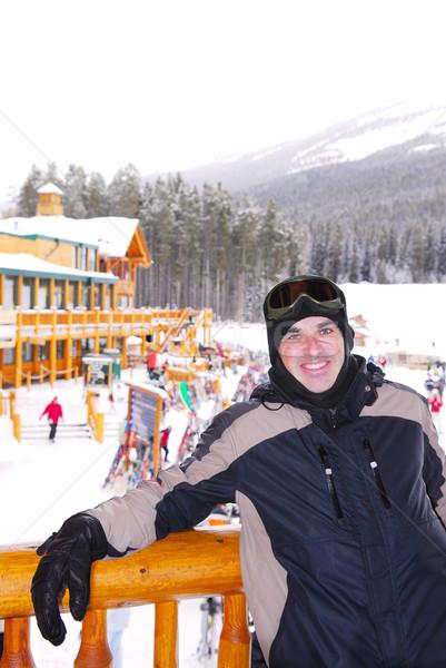 Happy skier Stock photo © elenaphoto