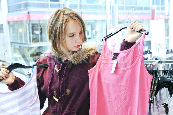 Teenage girl shopping Stock photo © elenaphoto