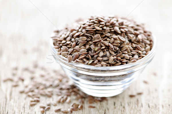 Brown flax seed Stock photo © elenaphoto