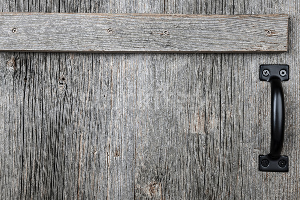 Old barn wood door Stock photo © elenaphoto