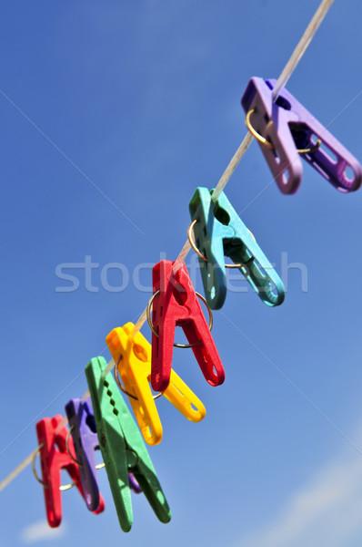 Colorful clothes pins Stock photo © elenaphoto