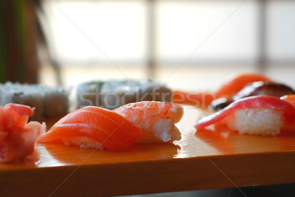 Photo stock: Sushis · poissons · dîner · asian · blanche