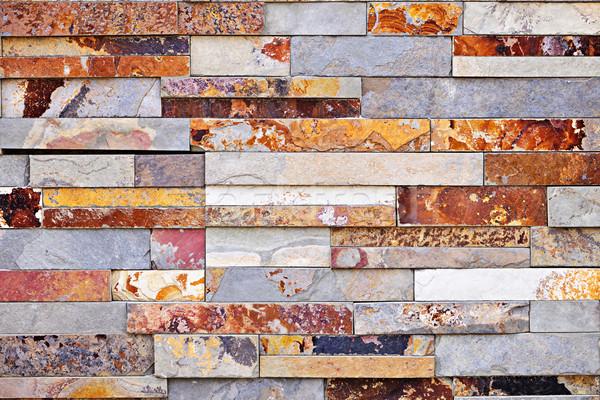 Stone veneer background Stock photo © elenaphoto