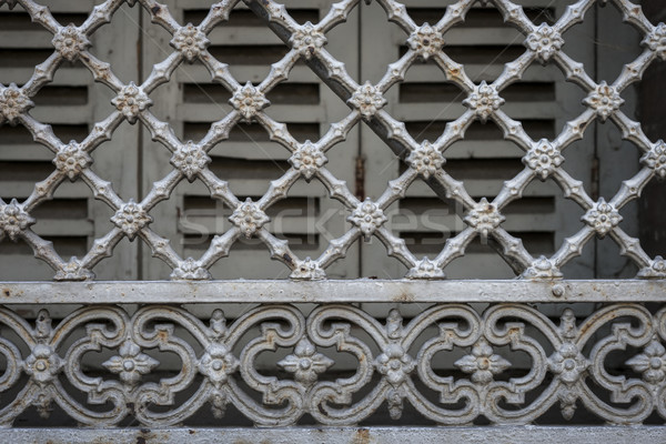 Window grill in Toulouse Stock photo © elenaphoto