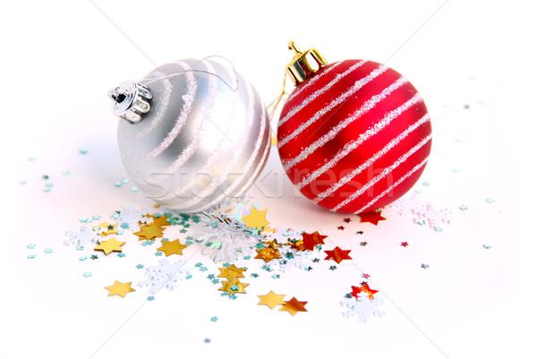 Christmas balls Stock photo © elenaphoto