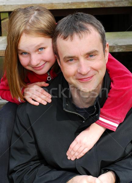 Father daughter portrait Stock photo © elenaphoto