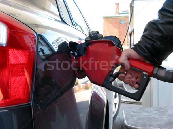 Gas pump fueling Stock photo © elenaphoto