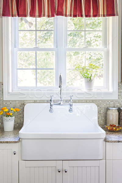 Kitchen sink and counter Stock photo © elenaphoto