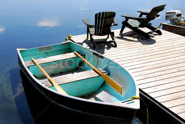 Lake chairs Stock photo © elenaphoto