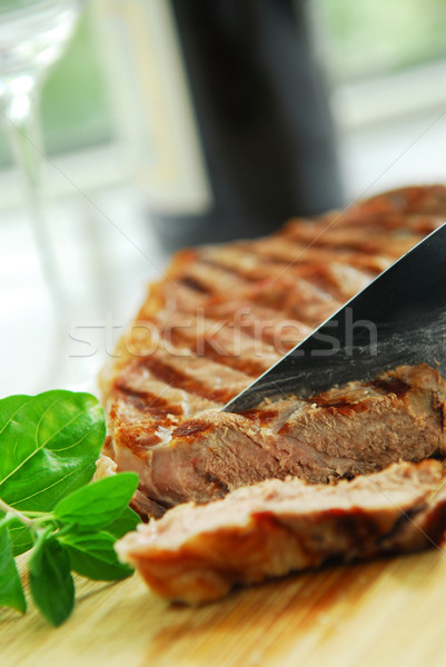 Grilled steak Stock photo © elenaphoto