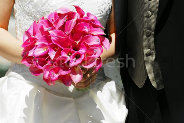 Bride and groom Stock photo © elenaphoto